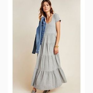 Anthropologie Maeve Gillian tiered maxi dress